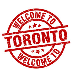 Welcome to toronto red stamp vector