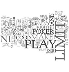 Why no limit poker is better than poker text word vector