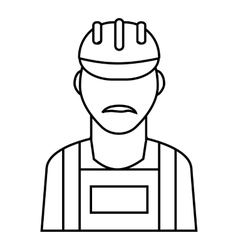 Employee oil industry icon outline style vector