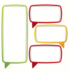 Colorful speech bubble frames vector