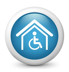 Disability glossy icon vector