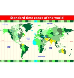 Time zones vector