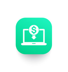 Internet banking icon online payment sign vector