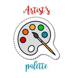 Fashion patch element artists palette vector