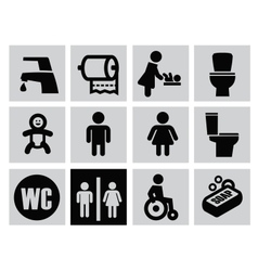 Man woman restroom vector