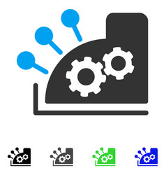 Cash register flat icon vector