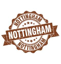 nottingham round ribbon seal vector image