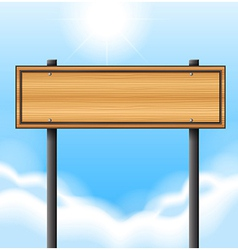 An empty wooden signboard vector image