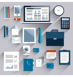 Business items set vector