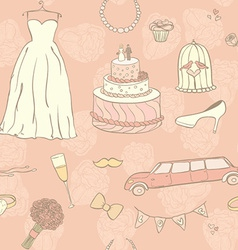 Wedding day pattern vector
