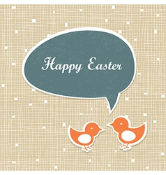 Easter card design retro vector