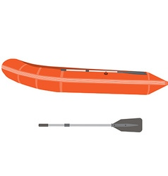 Boat and oar vector