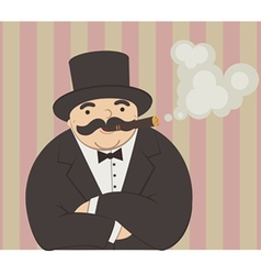 rich man vector image