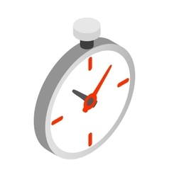 Pocket watch icon isometric 3d style vector image