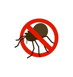 Warning sign with bug icon isometric 3d style vector