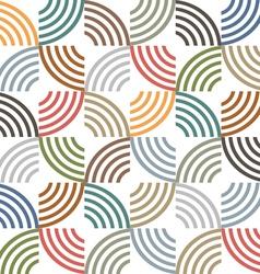 Retro colored geometric striped seamless pattern vector image
