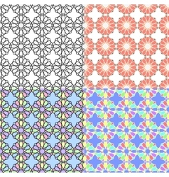 Arabic multicolor seamless patterns vector image vector image