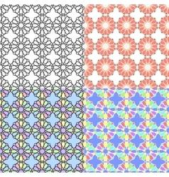 Arabic multicolor seamless patterns vector image