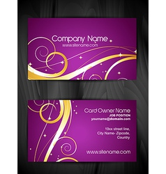 artistic floral business card design vector image