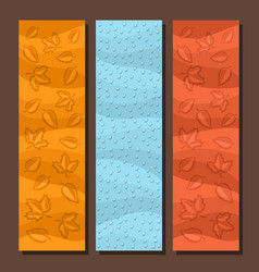 banners for autumn season vector image