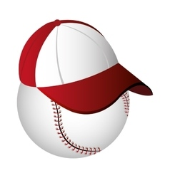 Baseball cap icon design vector