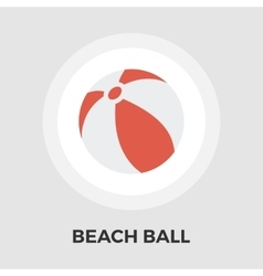 Beach ball Flat Icon vector image