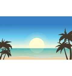 Beach landscape of art vector image vector image