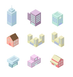 Building 3d isometric vector