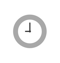 clock time icon on white with flat design style vector image
