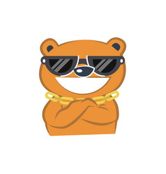 cute bear smiling vector image vector image