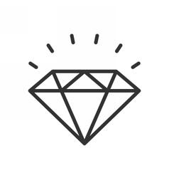Diamond outline icon vector