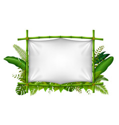 Empty frame made of bamboo vector