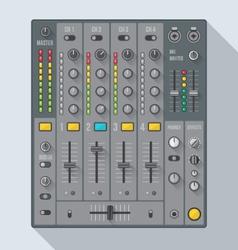 Flat style sound dj mixer vector