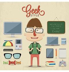 Geek character design vector image vector image