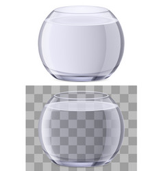 glasses of water on white background for vector image vector image