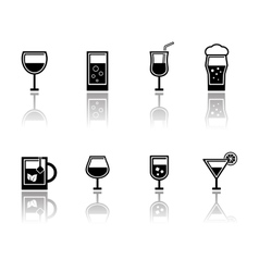 glasses set with reflection vector image