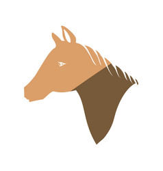 horse head silhouette vector image