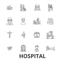 hospital doctor medical healthcare nurse vector image