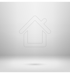 Icon in light studio room vector image vector image