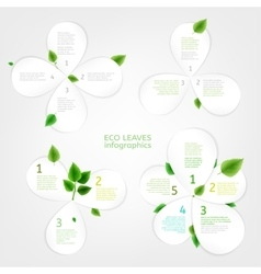 Paper Leaves infographic 01 A vector image vector image