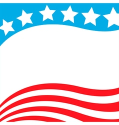 patriotic background usa flag vector image