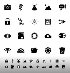 Photography sign icons on white background vector image