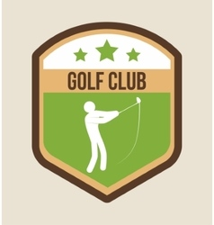 Player of golf sport design vector
