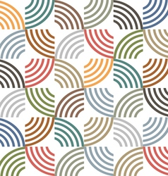 Retro colored geometric striped seamless pattern vector image vector image