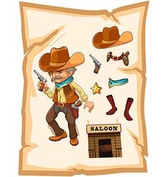 Saloon Cowboy vector image