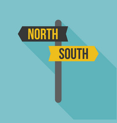 Sign post icon north and south direction vector