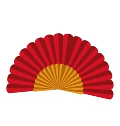 spanish fan isolated icon design vector image vector image