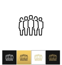 Staff group icon vector image vector image
