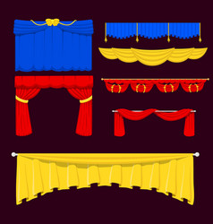Theather scene blind curtain stage fabric texture vector