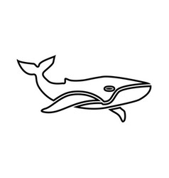 whale black icon vector image vector image
